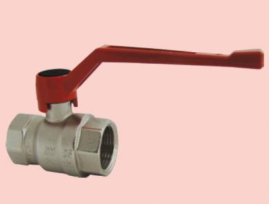 Шаровой кран никелированый HERZ с рычажной рукояткой (силумин), PN 25, ВР-ВР  - фото