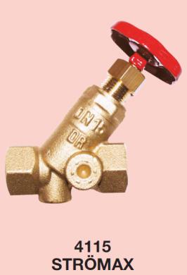 Запорный клапан HERZ STRÖMAX с наклонным шпинделем  - фото