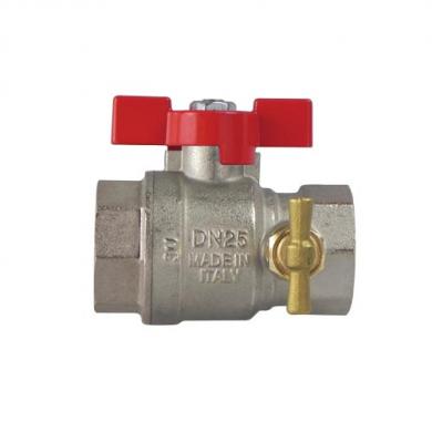 Полнопроходной шаровой клапан с пробкой и дренажным краном IVR 68/A - cоединения B/B  - фото