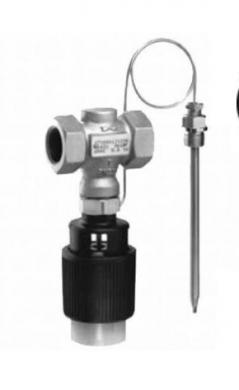 Регулятор температуры Samson 43-1 DN15  внутренняя резьба,  PN25, Tmax=150°C диапазон настройки:  25-70, 40-100°C, 50-120°C  - фото