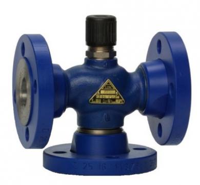 Седельные регулирующие клапаны трехходовые LDM  RV111 R2../F, фланец, без привода DN 15-40  - фото