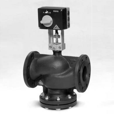 Двухходовой регулирующий клапан LDM RV 113 R, PN16, Tmax=150°C, DN 15-80 с электроприводом SAX31.03, 230В, 3-точки, 30 сек.  - фото