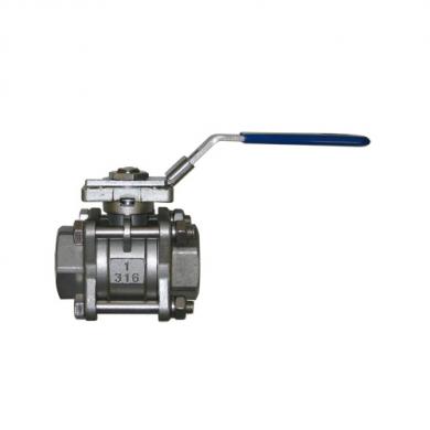 Трёхсоставной полнопроходной шаровой кран IVR 665 из нержавеющей стали AISI 316 - Соединения B/B  - фото
